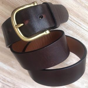 "Coach Leather Belt 34"""